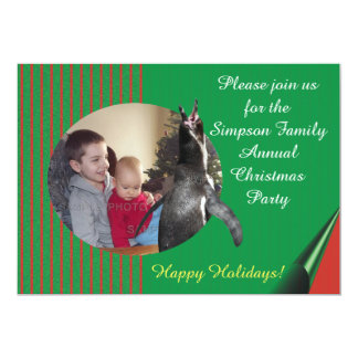 Annual Holiday Party Photo Montage Invitation