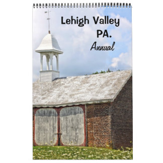 Annual Lehigh Valley one page Calendar