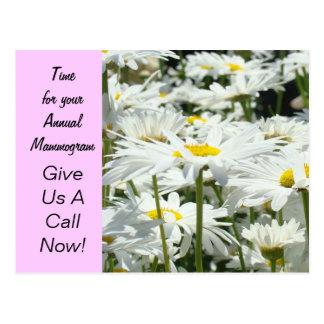 Annual Mammogram postcard Reminder Women