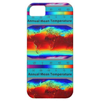 Annual mean temperature around iPhone SE/5/5s case