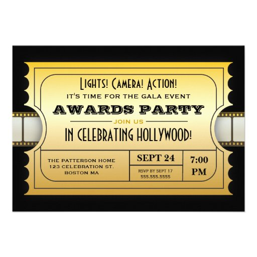 christmas party ticket template free – Movie Invitation Template Free