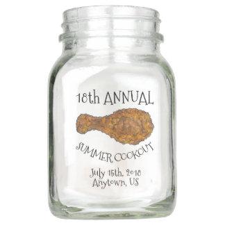 Annual Picnic Cookout Reunion Fried Chicken Leg Mason Jar