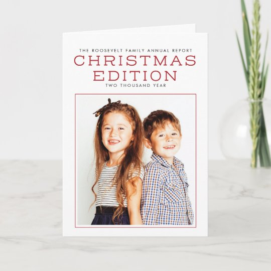 Annual Report Year In Review Christmas Card Zazzlecom