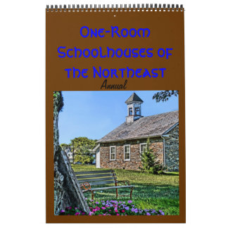 Annual Schoolhouse one page Calendar