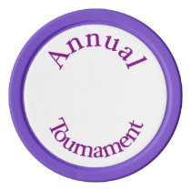 Annual Tournament-Purple Poker Chips
