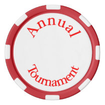 Annual Tournament-Red Text Poker Chips