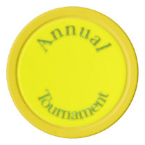 Annual Tournament-Yellow Poker Chips