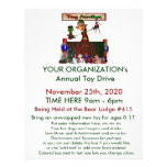 "Annual Toy Drive Flier with cute elf  toy auction 8.5"" X 11"" Flyer"