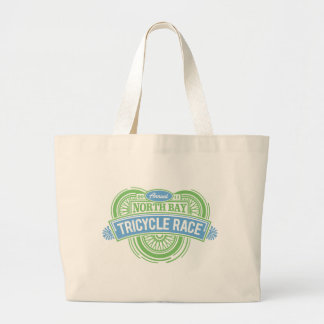 Annual Tricycle Race (blue & green) Large Tote Bag