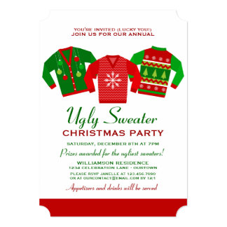 ugly sweater party invitations  announcements  zazzle, Party invitations