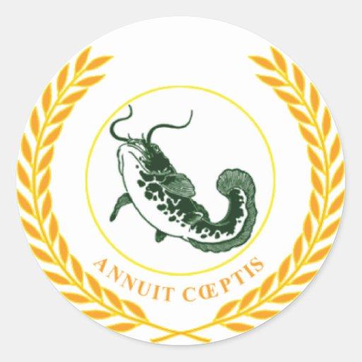Annuit Ceaptis Classic Round Sticker