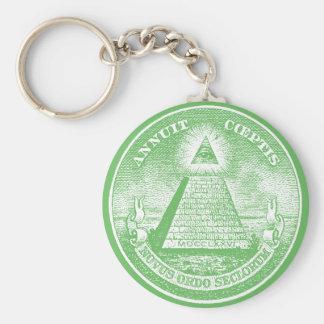 Annuit Coeptis Basic Round Button Keychain