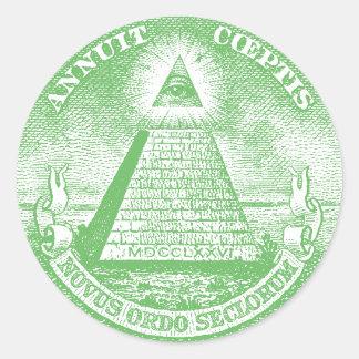 Annuit Coeptis Classic Round Sticker