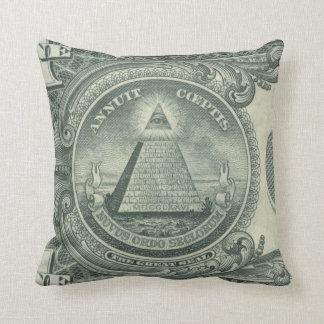 Annuit Cœptis Dollar Dollar Bill Yall Throw Pillow
