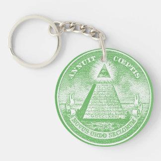 Annuit Coeptis Double-Sided Round Acrylic Keychain