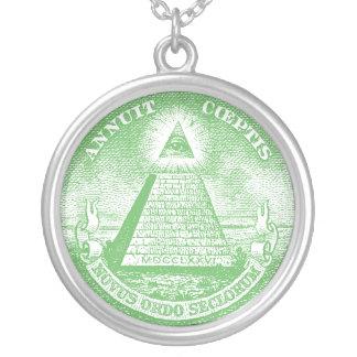 Annuit Coeptis Round Pendant Necklace