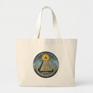 Annuit Coeptis - the All-Seeing Eye Large Tote Bag