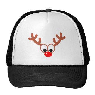 Annuitant more reindeer trucker hat