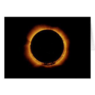 Annular Eclipse Ring of Fire Card