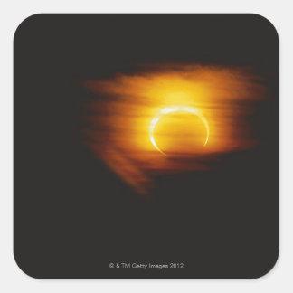 Annular Eclipse Square Sticker