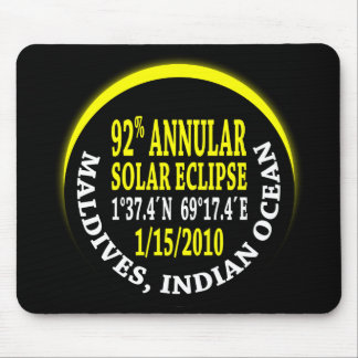Annular Solar Eclipse 1/15/2010 Mouse Pad