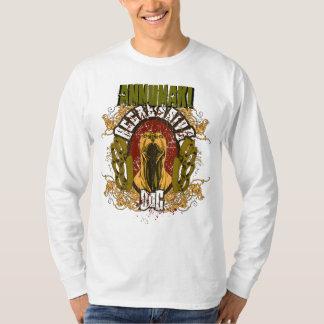 "Annunaki Custom ""Agressive Dog"" LS WhiteTee T-Shirt"