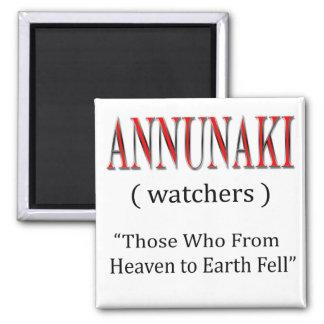 Annunaki del cielo a la tierra bajó imán cuadrado