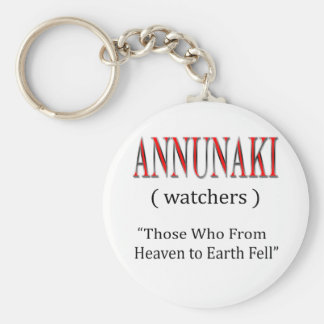 Annunaki From Heaven to Earth Fell Basic Round Button Keychain