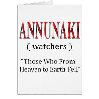 Annunaki From Heaven to Earth Fell Card
