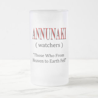 Annunaki From Heaven to Earth Fell Frosted Glass Beer Mug