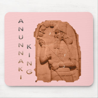 Annunaki King brown Mouse Pads