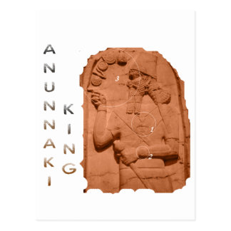 Annunaki King brown Postcard