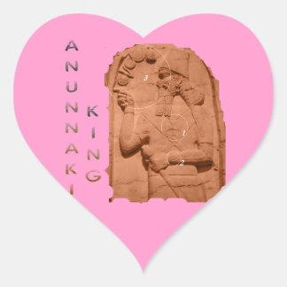 Annunaki King brown Heart Sticker