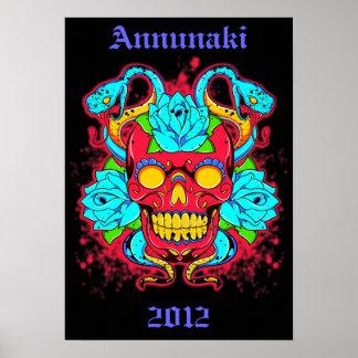 "Annunaki Skull ""Serpent King"" Canvas Piece Posters"