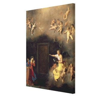 Annunciation, 1635 canvas print