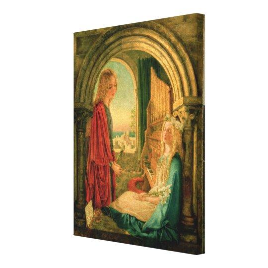 Annunciation, 1859 canvas print