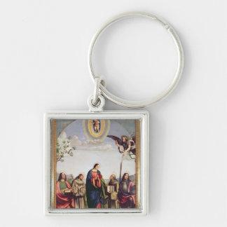 Annunciation and Saints, 1500 Keychain