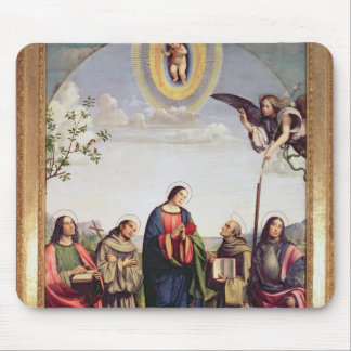 Annunciation and Saints, 1500 Mouse Pad