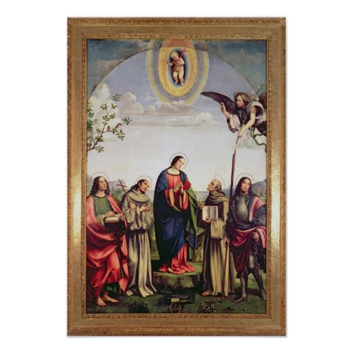 Annunciation and Saints, 1500 Poster