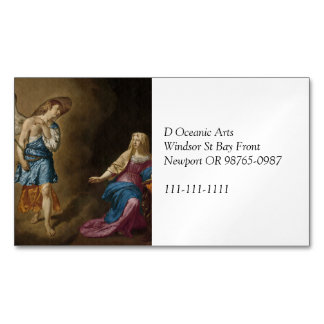 Annunciation Angel and Mary Magnetic Business Card