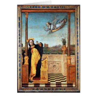 ANNUNCIATION ANGEL AND VIRGIN CARD