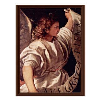Annunciation Angel By Tizian (Best Quality) Postcard