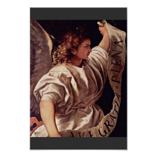 Annunciation Angel By Tizian (Best Quality) Poster