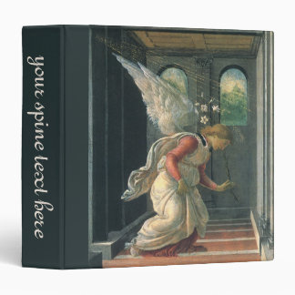 Annunciation (angel detail) by Sandro Botticelli 3 Ring Binder