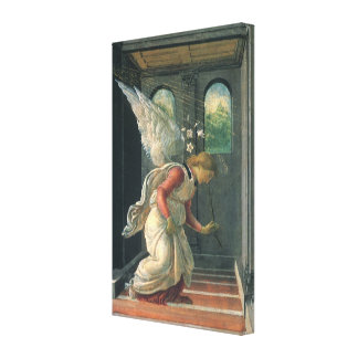 Annunciation (angel detail) by Sandro Botticelli Canvas Print