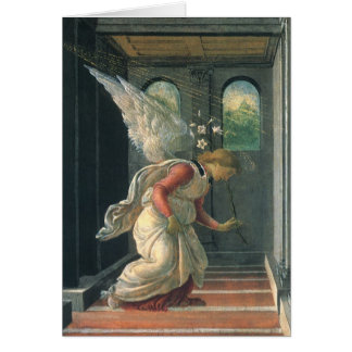 Annunciation (angel detail) by Sandro Botticelli Card