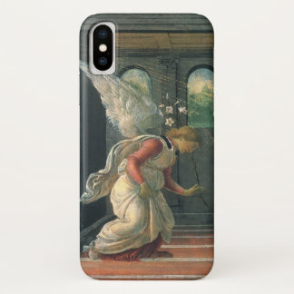 Annunciation (angel detail) by Sandro Botticelli iPhone X Case