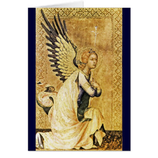 ANNUNCIATION  ANGEL ,Gold Yellow ,Blue Sapphire Card