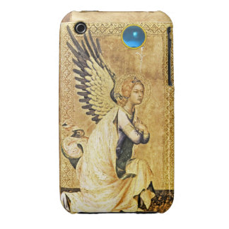 ANNUNCIATION ANGEL IN GOLD AND BLUE,Parchment iPhone 3 Case-Mate Case