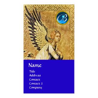 ANNUNCIATION ANGEL MONOGRAM, Blue Sapphire Business Card